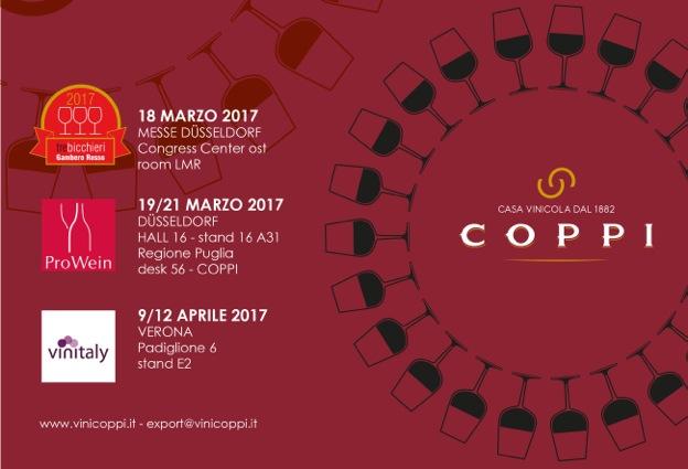 Prime fiere 2017 per la casa vinicola coppi - Fiere casa 2017 ...